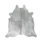 Cowhide Rug with Silver Flecks