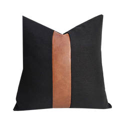 Black and Leather Pillow