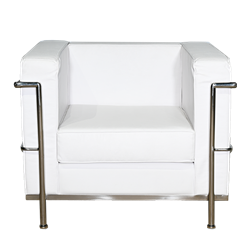 Mid-Century Arm Chair - White