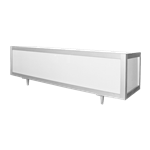 8' Lighted Buffet Table Silver Frame