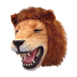 Lion Head Mount Faux