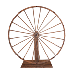 Oversized 8' Wagon Wheel on Stand