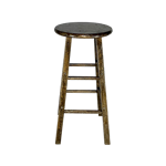 Dark Wood Bar Stool - Low